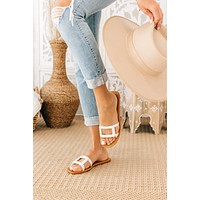 Going Somewhere Sunny Sandals (White)