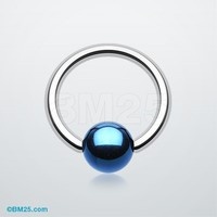Colorline PVD Ball Ends Steel Captive Bead Ring