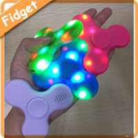 New LED MINI Bluetooth Speaker Music Fidget Spinner EDC Hand Spinner For Autism And Kids Adult Funny Fidget Toy by DHL free