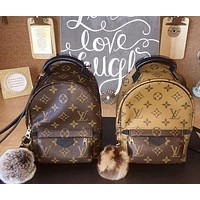 LV popular casual lady full printed color matching backpack
