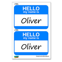 Oliver Hello My Name Is - Sheet of 2 Stickers