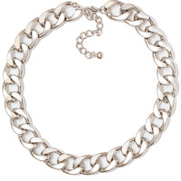 Molly Chain Necklace - Silver