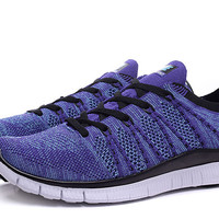 """NIKE"" Women's Trending Fashion Knitting Casual Purple Sports Shoes"