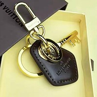 LV Louis Vuitton Fashionable Women Men Cowhide Key Holder 4#