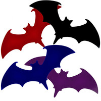 """4 Pack of Bat Stickers Vampire Dracula Halloween Decal 6"""" X 3"""" Color Pack"""