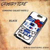 R2D2 Star Wars Hello Kitty Black White Snap On 3D For Samsung Galaxy Note 2 Case