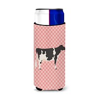 Holstein Cow Pink Check Michelob Ultra Hugger for slim cans