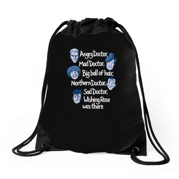 angry doctor Drawstring Bags