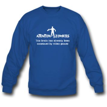 attention zombies sweatshirt