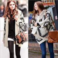Women's Fashion Winter Pullover Vintage Christmas Knit Bottoming Shirt [22394896410]