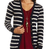 Button-Up Boyfriend Cardigan by Charlotte Russe