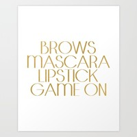 Fashion Quote Mascara Print Gift Women Typography quote Fashionista Fashion Print Wall art Home Art Art Print by MichelTypography