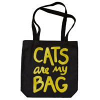 Cats Are My Bag Tote - Black & Gold