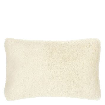Mousson Chalk Throw Pillow by Designers Guild