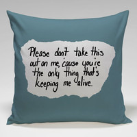 lyric pierce the veil Square Pillow Case Custom Zippered Pillow Case one side and two side