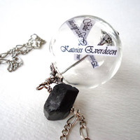 Reaping Ball Necklace Inspired By The Hunger Games - Hand Blown Glass Ball - Ode To District 12 - Katniss Peeta Primrose Gale