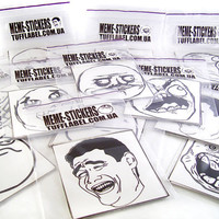 """2,7"""" Meme stickers printed on vinyl film and cut in form. lol 9 gag Yao decal car outdoor troll face yeah fuuu"""
