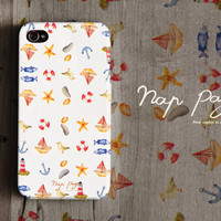 Apple iphone case for iphone iphone 3Gs iphone 4 iphone 4s iPhone 5 : light house, boat, fish and star fish pattern