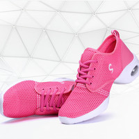 2017 New Modern Women dance sneakers Jazz Dance Shoes Genuine Leather Size 35-40 salsa shoes Tennis Sneakers 7204