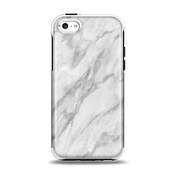 The White Marble Surface Apple iPhone 5c Otterbox Symmetry Case Skin Set
