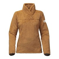 Women's Campshire Sherpa Fleece Pullover in Biscuit Tan by The North Face
