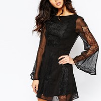 Stone Cold Fox Duboce Dress in Black Lace
