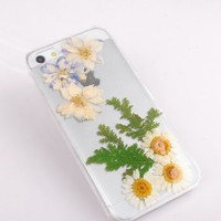 Pressed flowers case for iPhone 6 plus Daisy