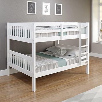 Max Full Size White Bunk Beds for Kids