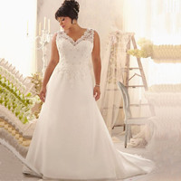 Cheap Sexy Bridal Dress Backless Appliqued Beaded Wedding Dress Fashionable Plus Size 2017 Bridal Gown For Women Free Shipping