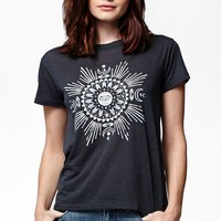 Billabong Sunburst Short Sleeve Crew T-Shirt - Womens Tee - Black