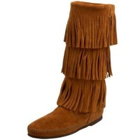 Minnetonka Women's 3-Layer Fringe Boot