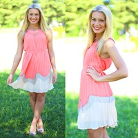Dripping in Compliments Dress in Coral