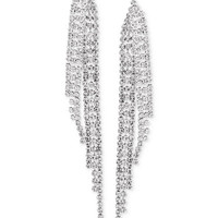 Say Yes to the Prom Silver-Tone Crystal Fringe Drop Earrings - Juniors Prom Dresses - Macy's