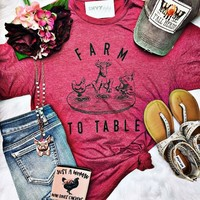 Farm To Table Graphic Tee