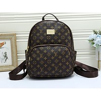 LV popular casual lady shopping bag fashion checked print shoulder bag Black lattice
