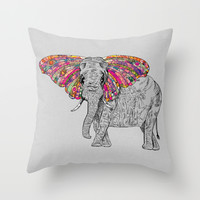 Bella The Happy Butterphant Throw Pillow by Bianca Green