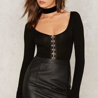 Silly Love Songs Plunging Bodysuit