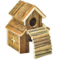 NiteangeL® Natural Living House, Hamster, Gerbil and Mouse Home, Size 7.9 x 5.9 x 5.5 inch