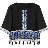 Suno / Embroidered Tassel Top  |   La Garçonne
