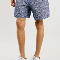 Blue And White Printed Wide Fit Shorts - Multi Packs - Clothing
