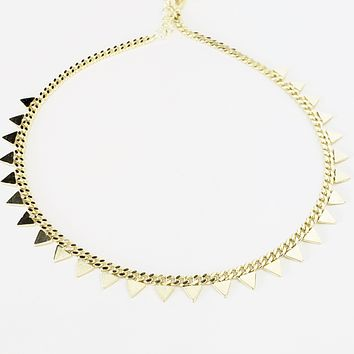 Triangle Geometric Minimal Adjustable Anklet| 925 Sterling Silver