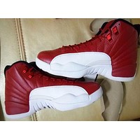 Air Jordan GYM RED 12s Carbon Fiber Basketball Shoes