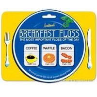 Breakfast Flavored Dental Floss - Coffee, Waffle, Bacon Flavored Floss