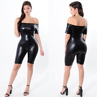 Vegan Leather Romper