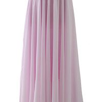 Light Pink Long Maxi Skirt  Pink S/M