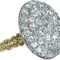 Olivia Collings Antique Jewelry Old Cut Diamond Button Ring at Barneys.com