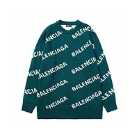 Balenciaga full printed letter knitted sweater