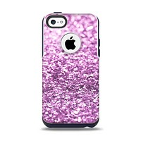 The Purple Glimmer Apple iPhone 5c Otterbox Commuter Case Skin Set