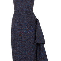 Roland Mouret - Flynn asymmetric metallic jacquard midi dress