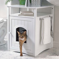Kitty Washroom Cabinet, Litter Box Cover   Solutions
